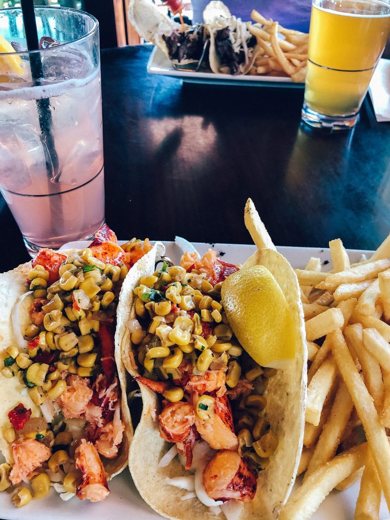 Lobster tacos from Lookout Tavern