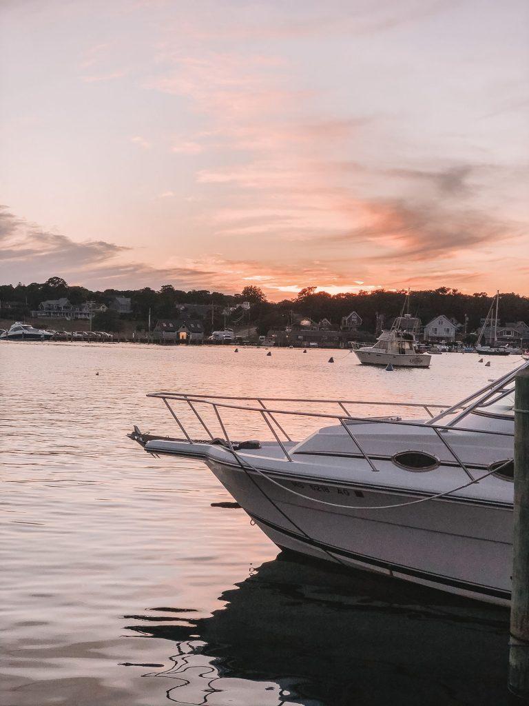 Oak Bluffs during sunset