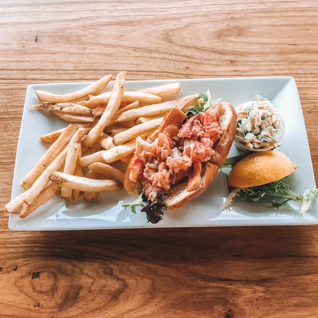 A lobster roll from The Black Dog Tavern