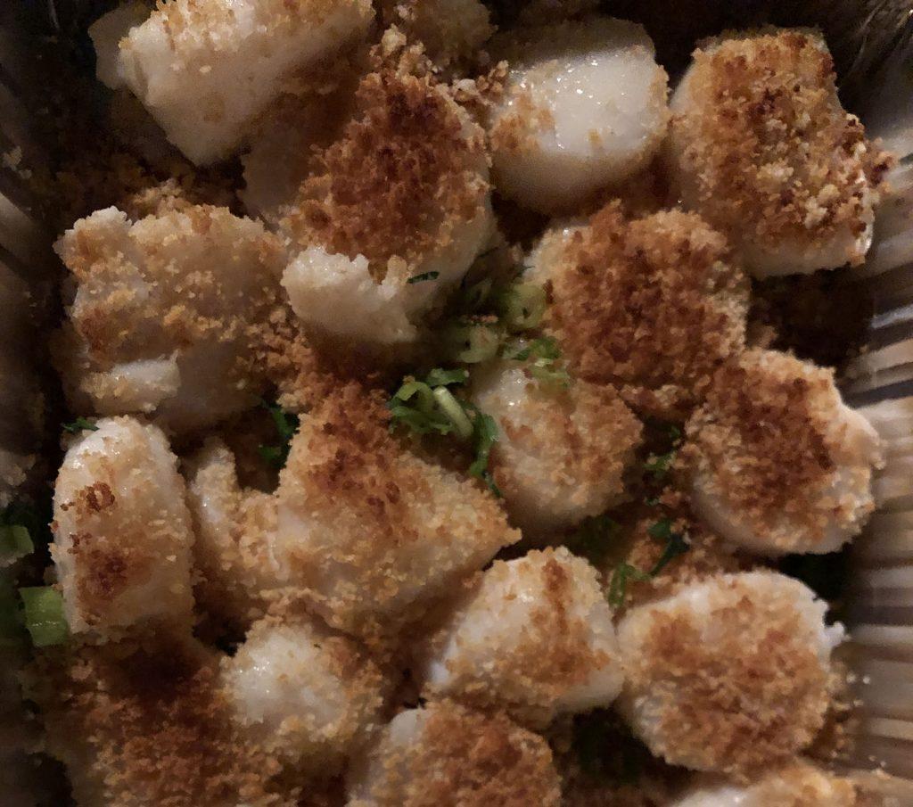 Baked scallops from Nancy's Restaurant in Oak Bluffs