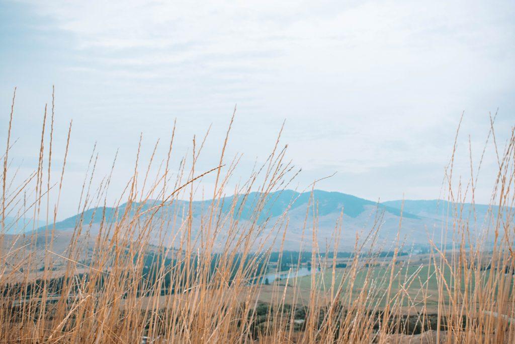 Beautiful mountain views on a Montana road trip