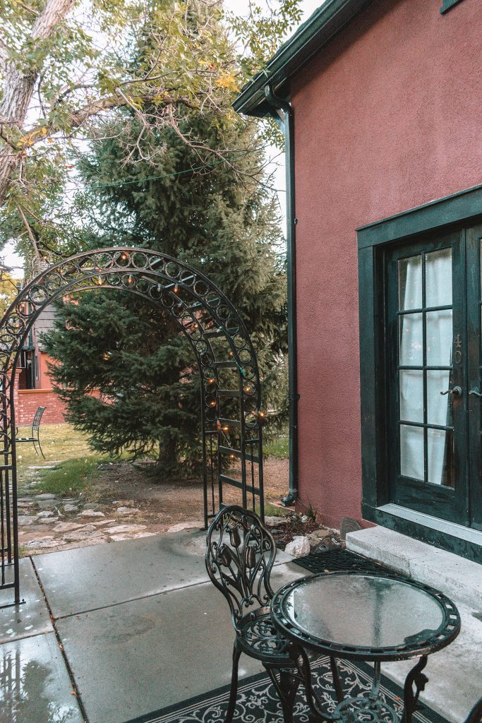 A garden apartment at Chamberlin Inn in Cody, WY