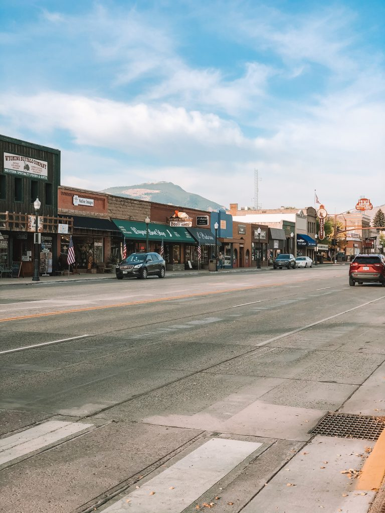 Downtown Cody, Wyoming during a Yellowstone and Grand Teton itinerary