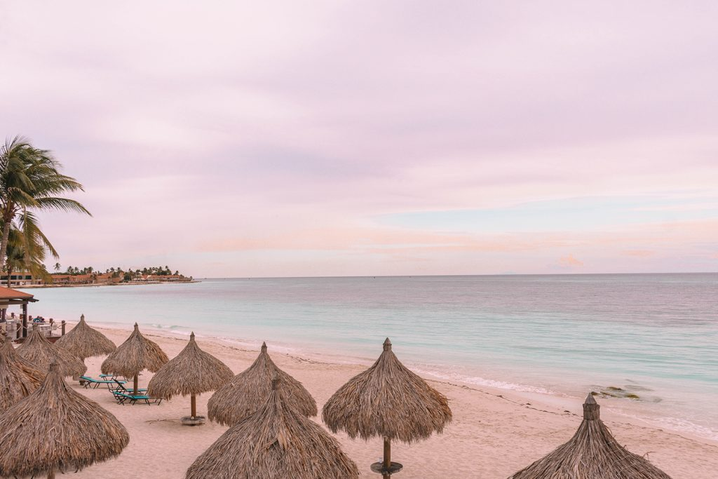 Divi All Inclusive Aruba during sunset