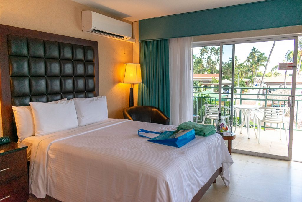 An oceanview guest room at Divi All Inclusive Aruba