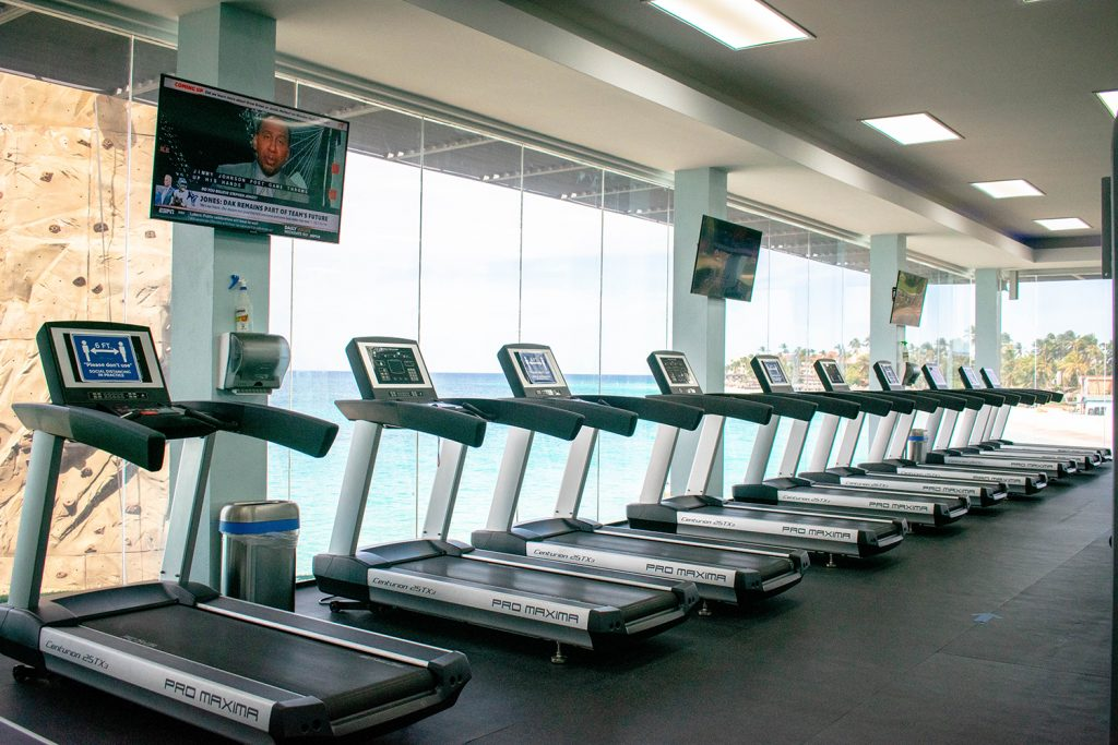 The gym at Divi All Inclusive Aruba