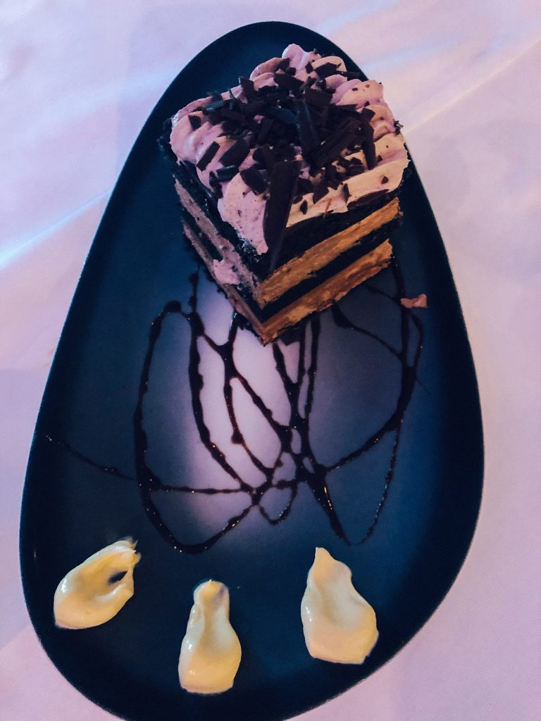 A Chocolate cake from Divi Aruba