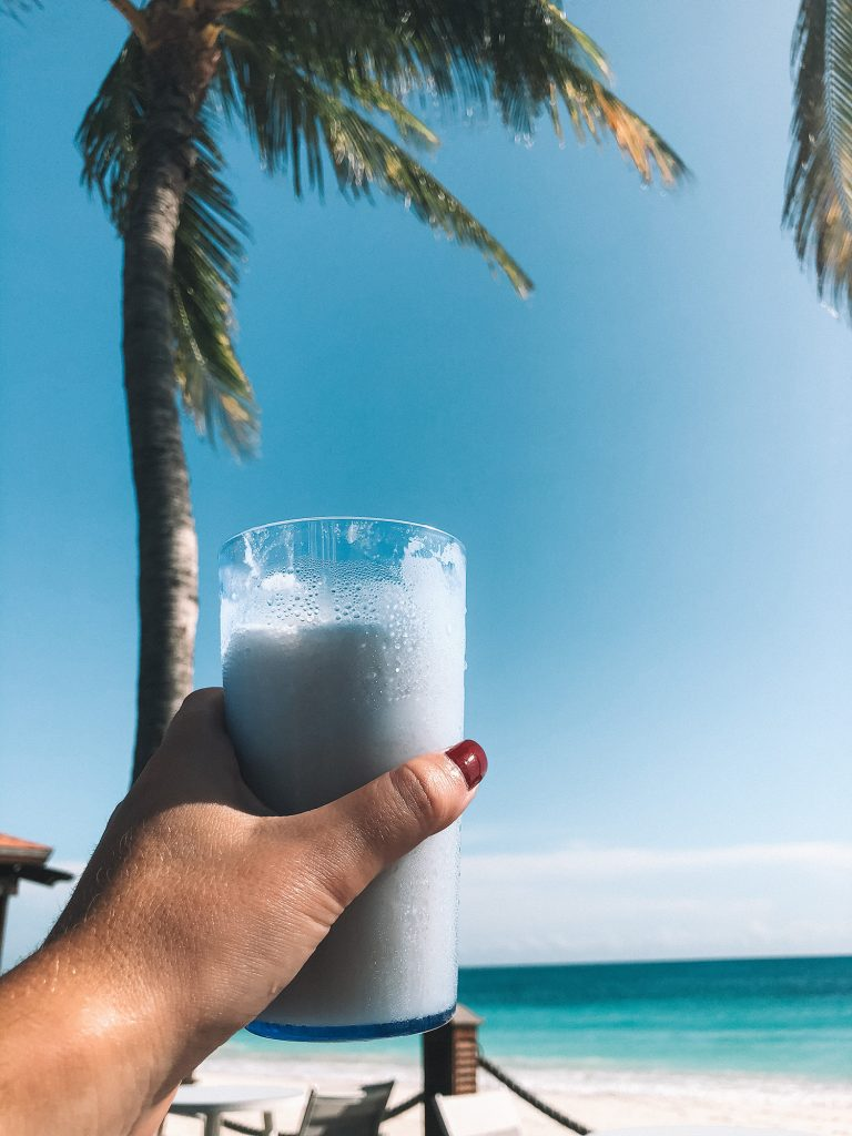 A pina colada from Divi All Inclusive Aruba