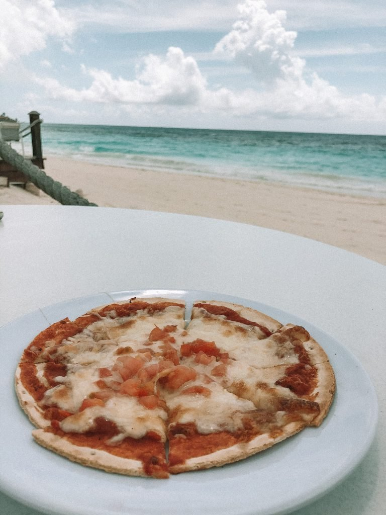Margherita pizza from Coco Grill & Bar at the Divi resort