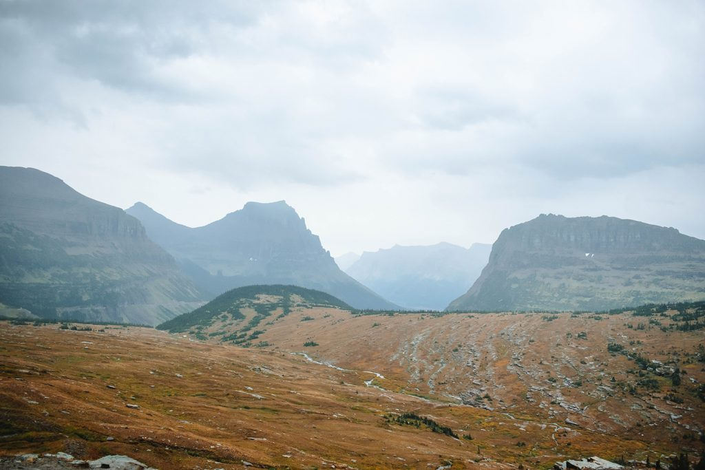 Breathtaking views of the Hidden Lake trail in Glacier National Park