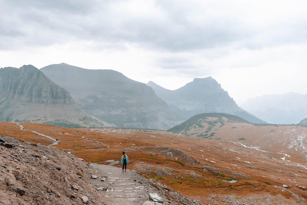 A woman enjoying the best spots on a Montana road trip