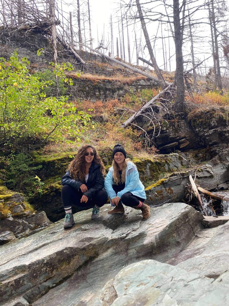 Two women in Glacier National Park, Montana