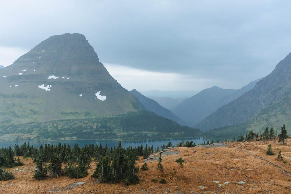 Views of the Hidden Lake Sperry Glacier in Glacier National Park