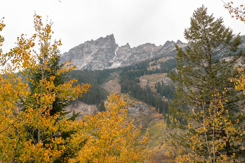 Views of Grand Teton peak in Wyoming during a Yellowstone and Grand Teton itinerary