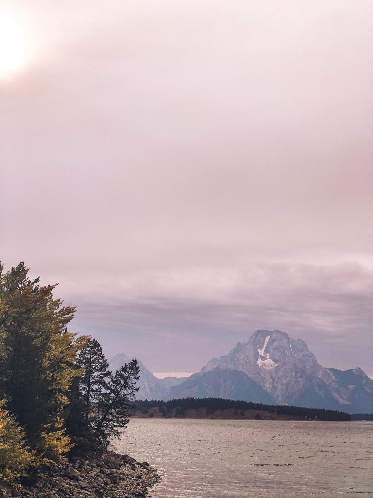 The beautiful Teton range during a Yellowstone and Grand Teton itinerary