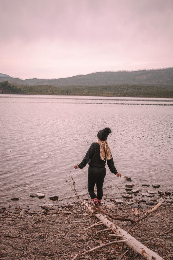 A woman on the best Montana road trip