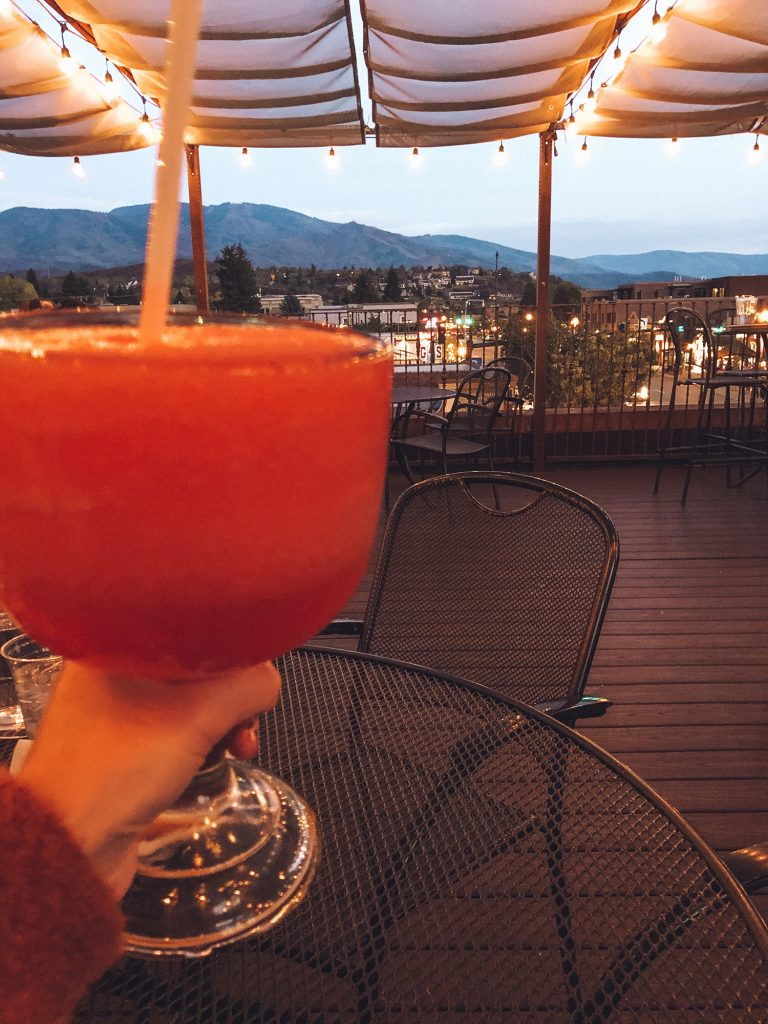 Strawberry margarita in Steamboat Springs
