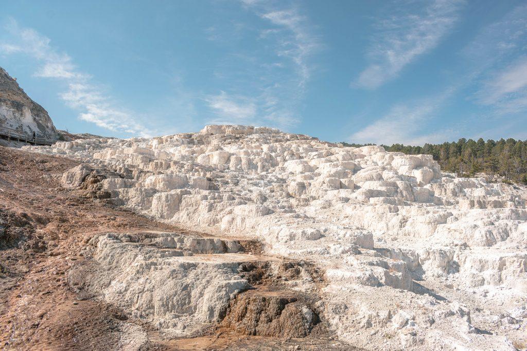 Beautiful limestone of Mammoth Hot Springs