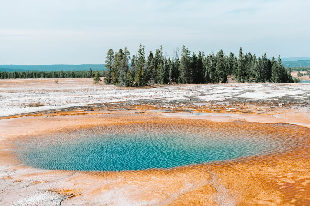Hot springs along a Yellowstone and Grand Teton itinerary road trip