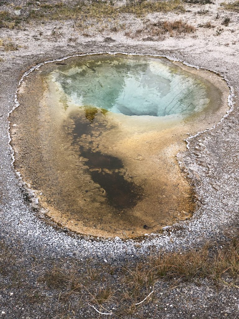 A mini hot spring in Yellowstone National Park