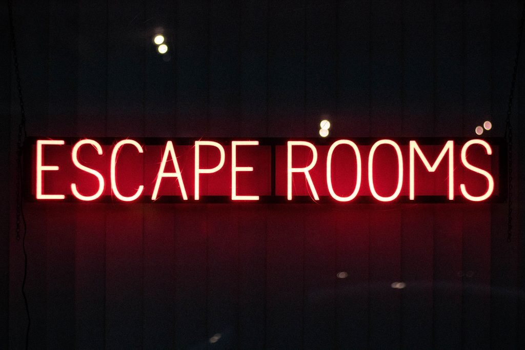 Escape Rooms neon sign