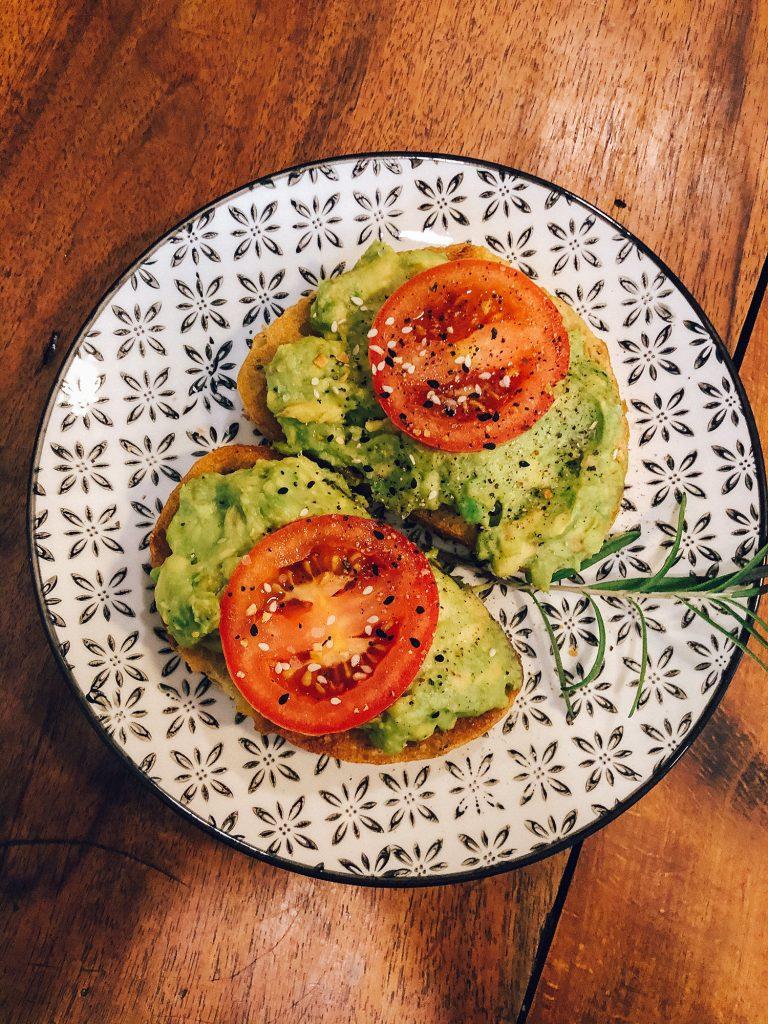 Avocado toast for breakfast at The Bond 1835
