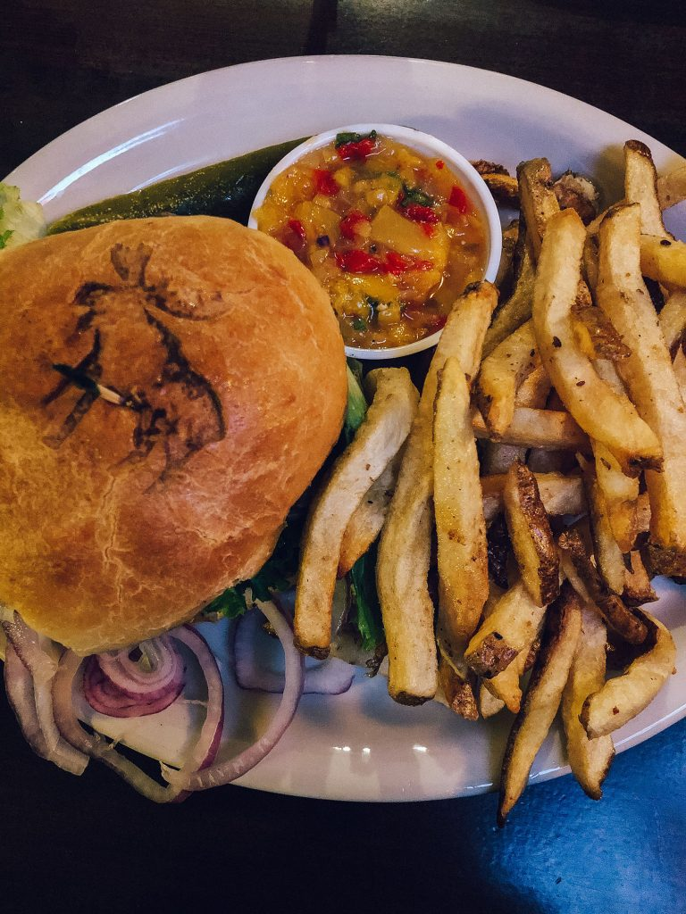 A sandwich with fries from Fargo Bar & Grill in Aurora, New York