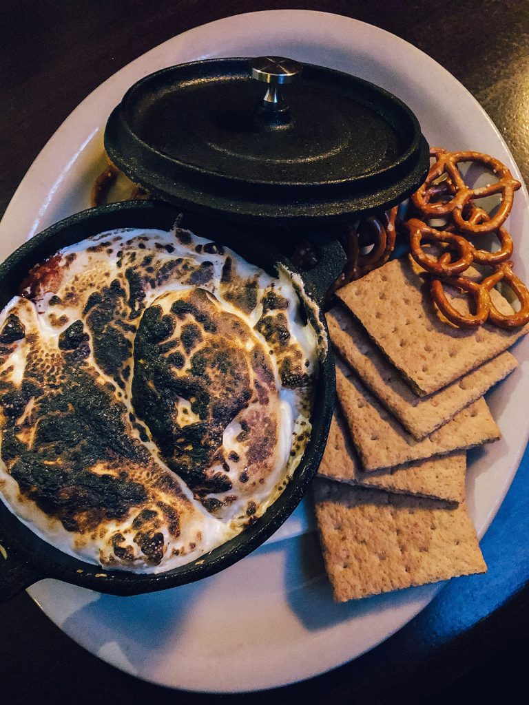 A s'mores dip from Fargo Bar & Grill in the Finger Lakes