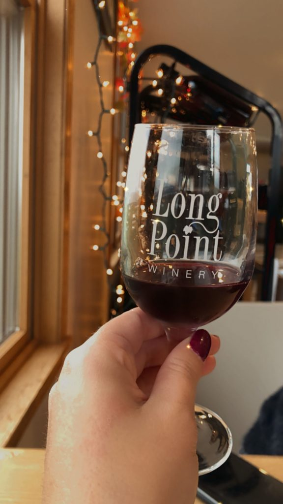 A red wine from Long Point Winery in the Finger Lakes
