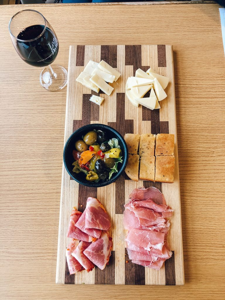 A charcuterie board from Long Point Winery in the Finger Lakes