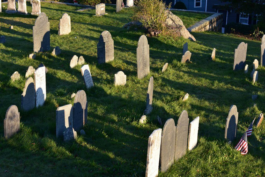 A cemetery in Salem, Massachusetts