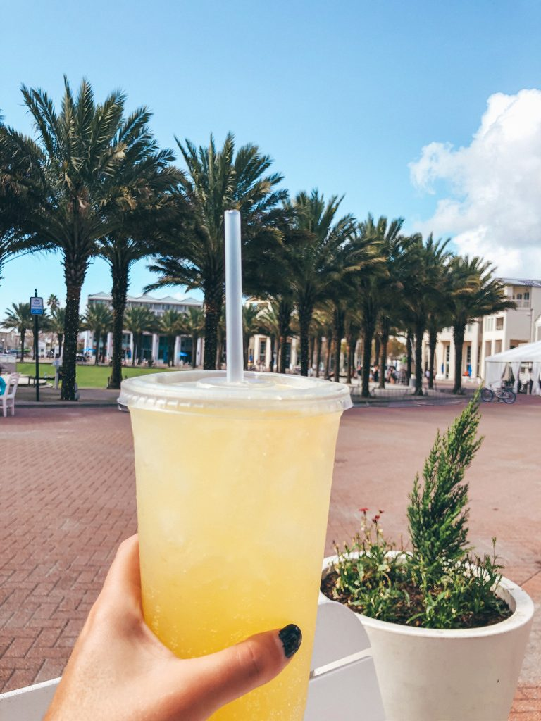 A mimosa to go from Modica Market in Seaside, Florida