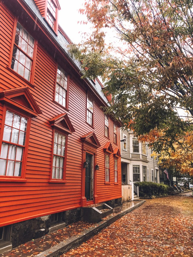 Fall foliage during a Halloween trip to Salem