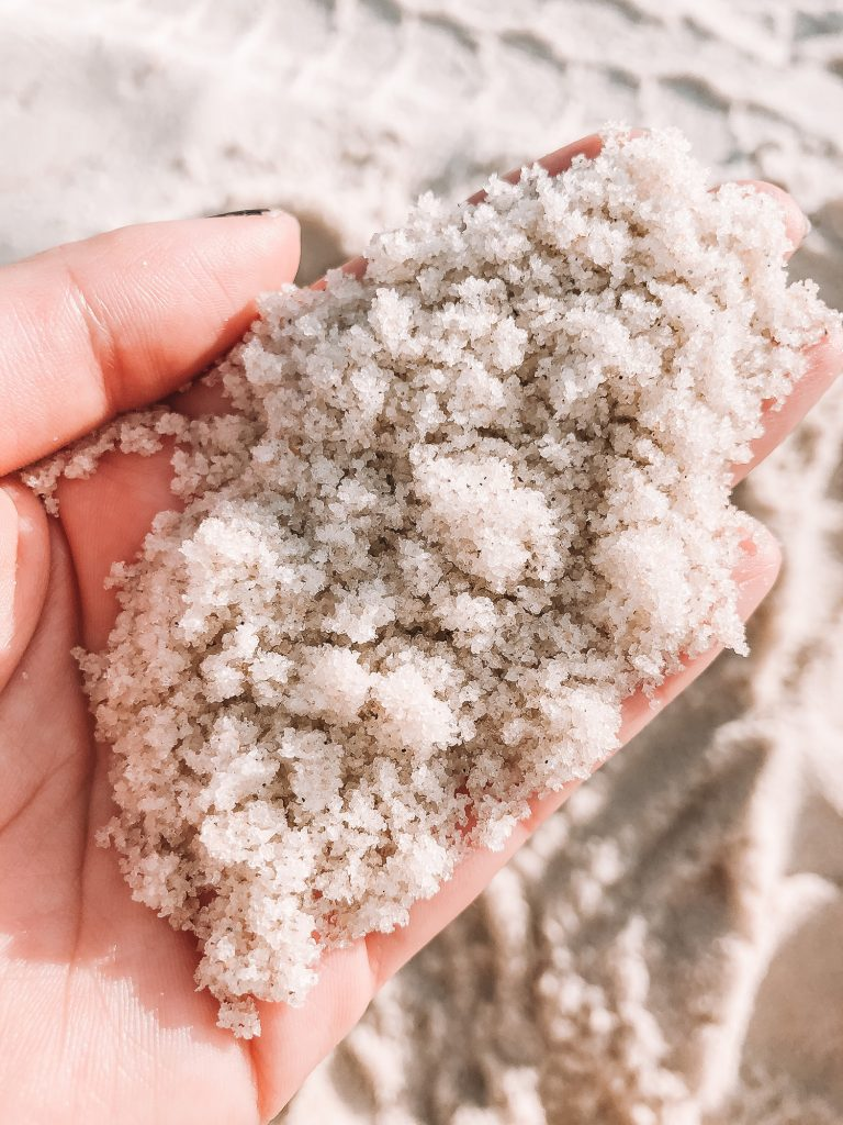 The sand from Seacrest Beach on 30a