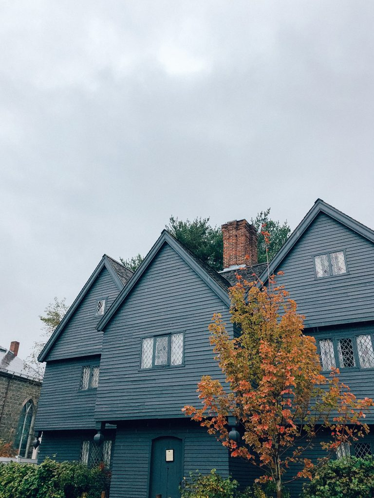 The Witch House during Halloween in Salem