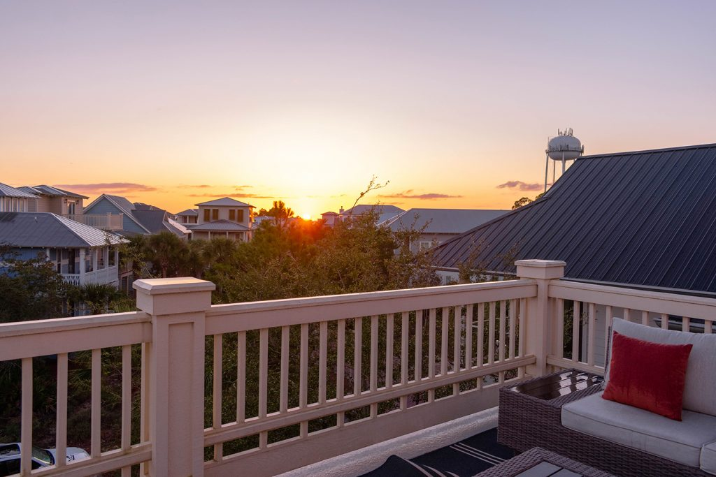 A beautiful sunset a Yourcation Awaits in Rosemary Beach