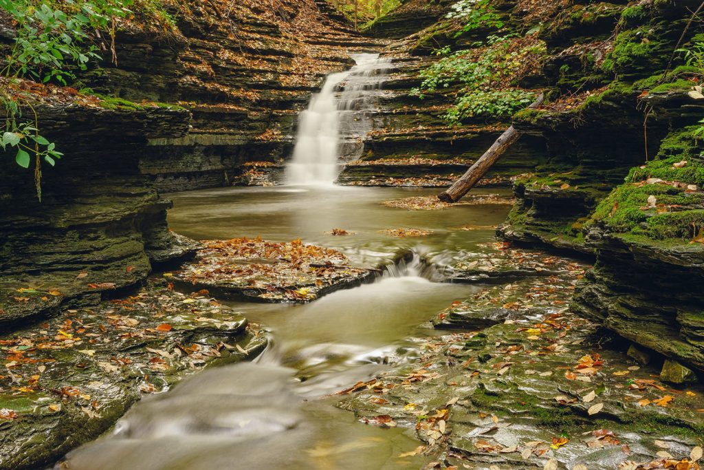Buttermilk Falls in the Finger Lakes