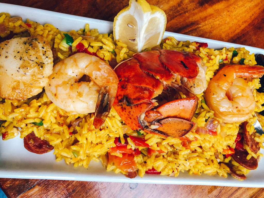 Seafood paella from La Crema in Rosemary Beach
