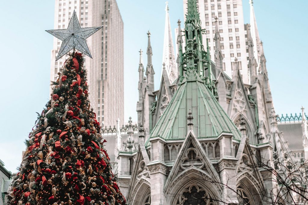 St. Patrick's Cathedral during Christmastime - one of the top 40 things to do in NYC
