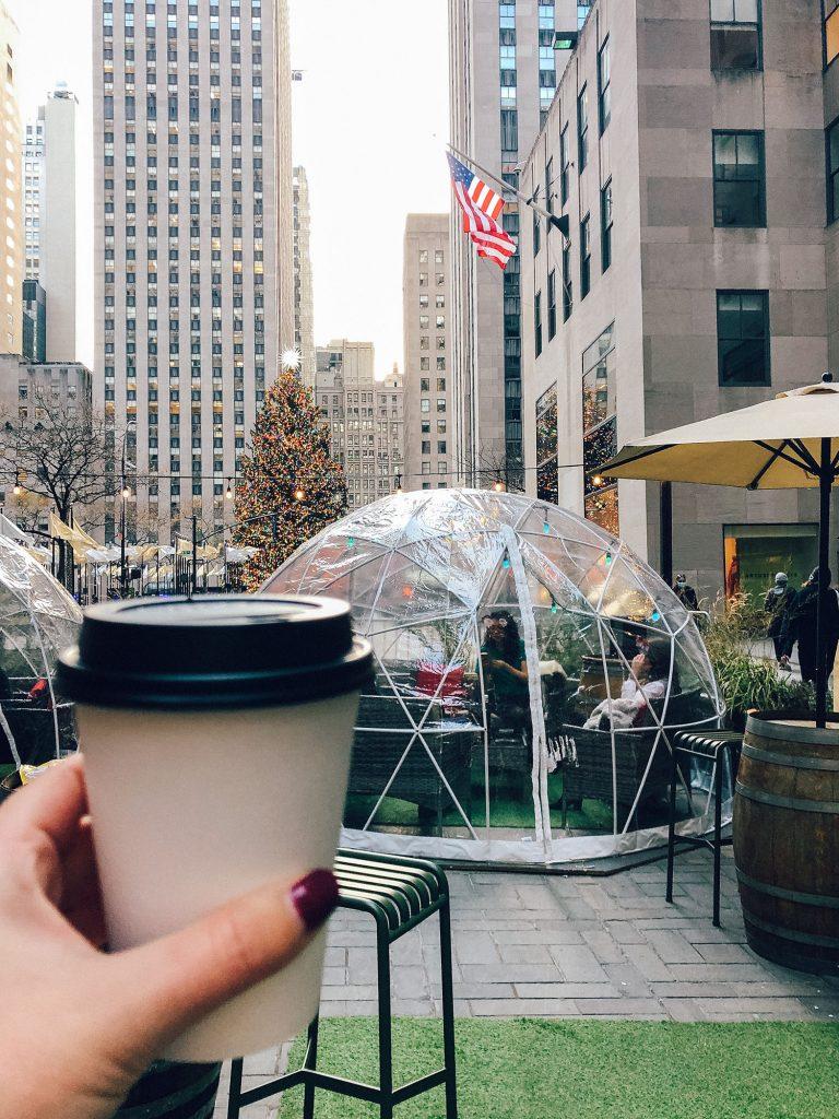 City Winery igloos at Rockefeller Center