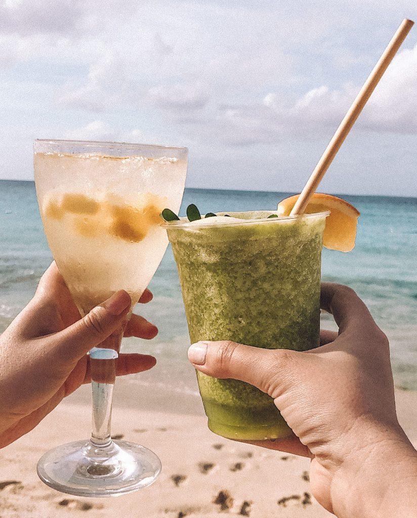 Tropical drinks from the best luxury beach resort in Anguilla