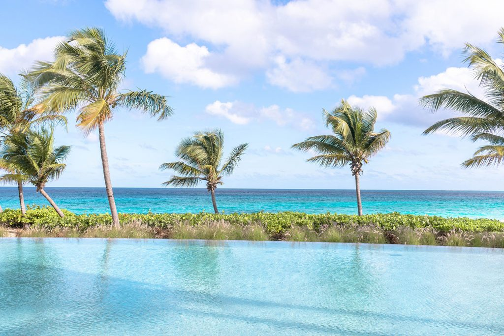 The Bamboo Pool at the best luxury beach resort in Anguilla