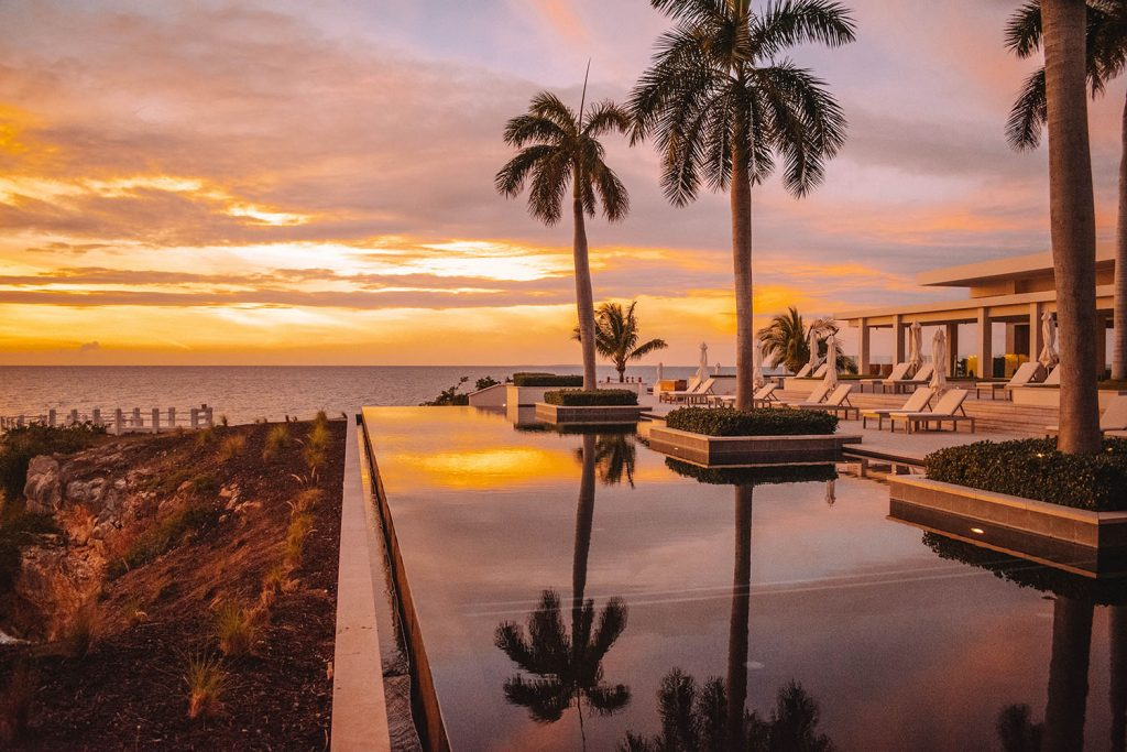 A beautiful sunset at the best luxury beach resort in Anguilla - Four Seasons
