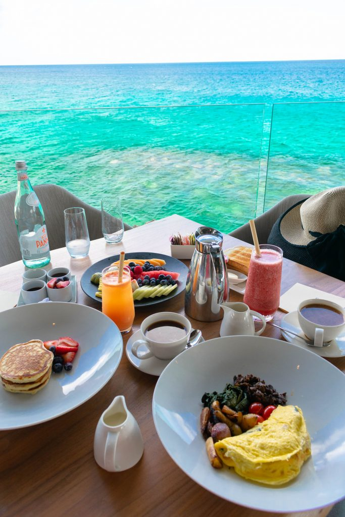 A breakfast with a view at Four Seasons Anguilla