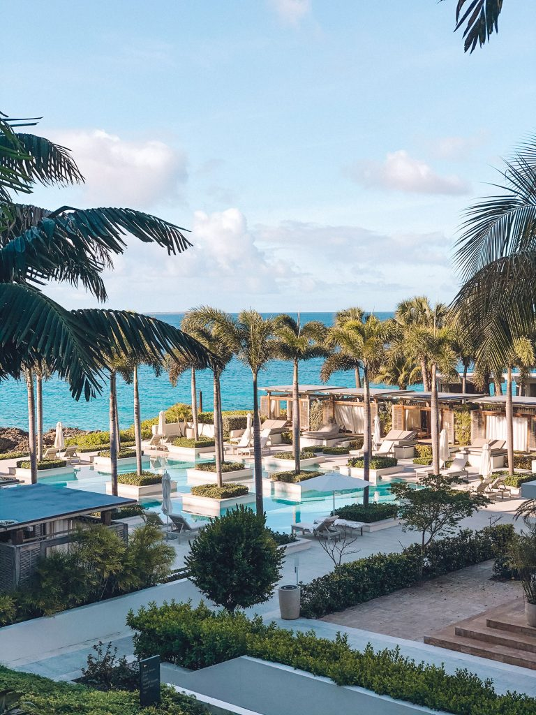 A view of the Aleta Pool at Four Seasons Anguilla - the best luxury beach resort