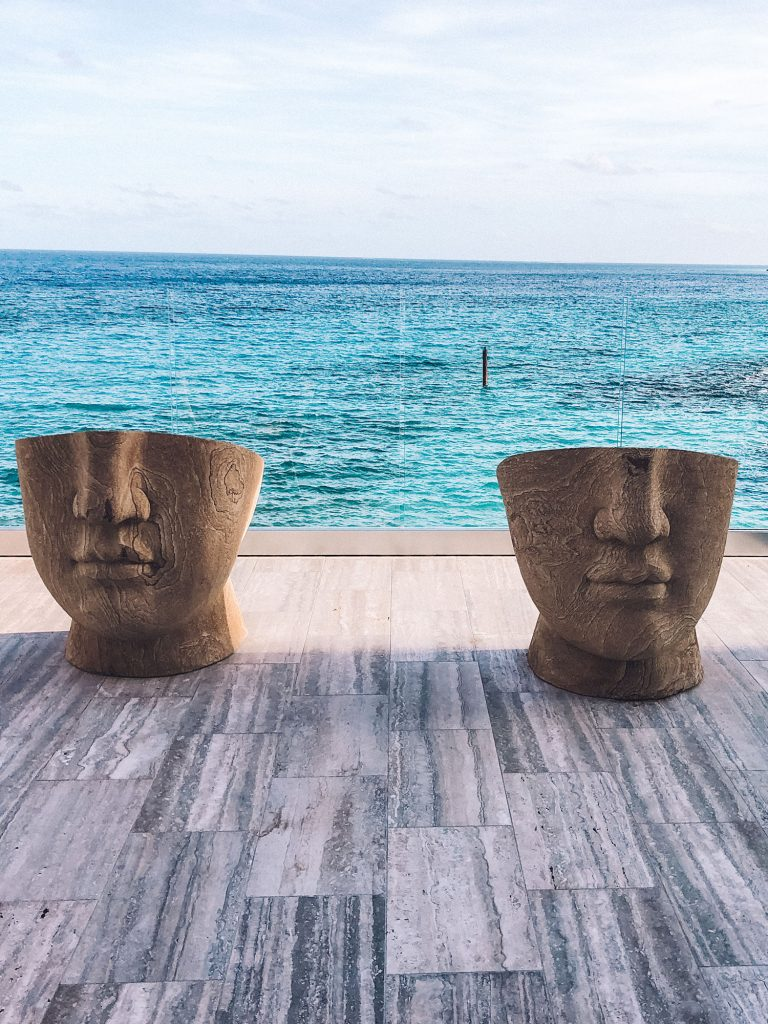 Face chairs from Four Seasons Anguilla