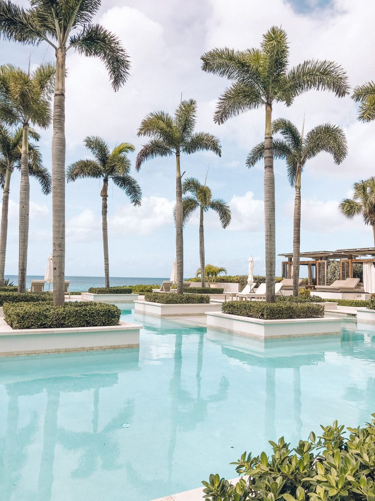 The main pool at the best luxury beach resort in Anguilla