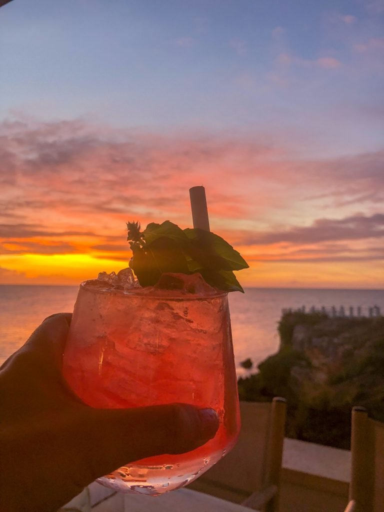 A sunset kombucha from Four Seasons Anguilla