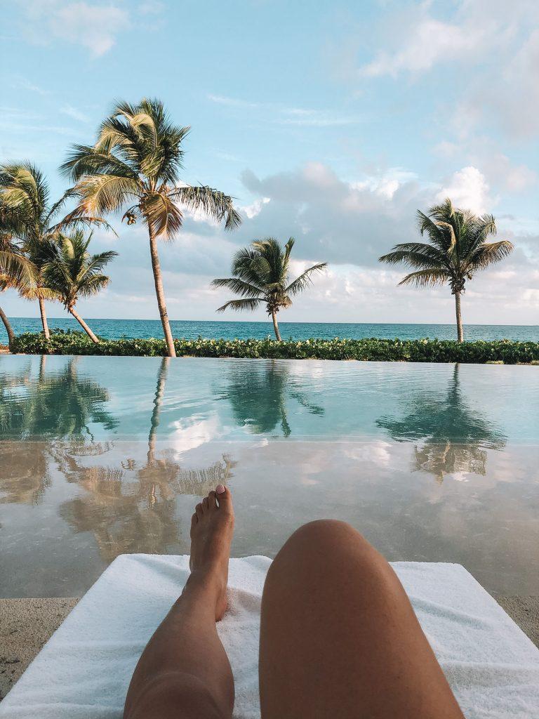 Sunbathing at the best luxury beach resort in Anguilla