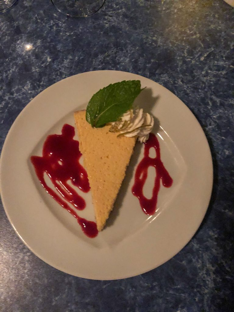 Key lime lemon pie from Mango's Seaside Grill in Anguilla